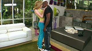 Lily Labeau sucking huge black cock