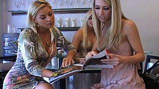 Three Hot Blonde Lesbians