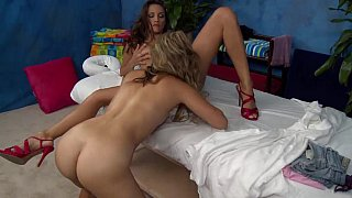 18 yo lesbian teens massaging each other