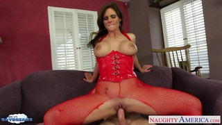 Busty brunette Phoenix Marie gets nailed