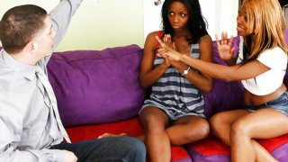 Black slutty sisters taste some white meat