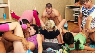 Students gather and start insane orgy