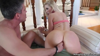 Ashley Fires bouncing on dick of Mick Blue