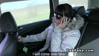 Czech taxi driver fucks beauty