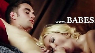 blondie couple from Spain enjoy art sex