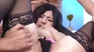 Japanese?Erena Kurosawa enjoys two men in hardcore