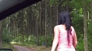 Perky tits teen girl Daphne Klyde pounded in countryside