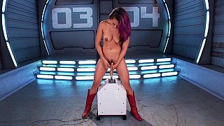 Insatiable babe finds pleasure in machines