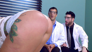 Ryan Conner gets her big ass worshipped by Charles Dera and Ramon