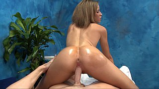 Sexy female bouncing hard on cock