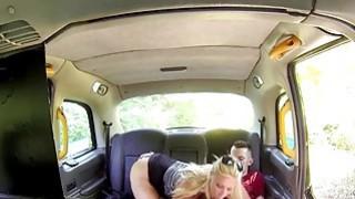 Huge tits cab driver fucks student in public