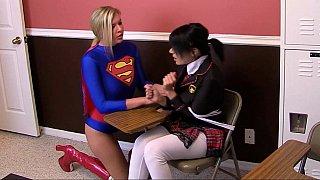Helpless supergirl