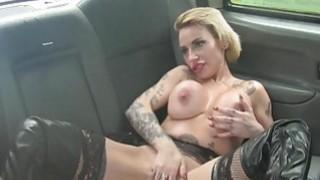 Busty tattooed passenger pussy rammed