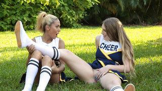 Cheerleaders being aroused