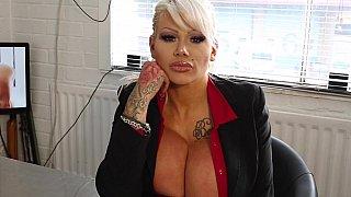 Grotesque blonde boss