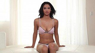 Latina on her knees