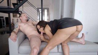 Hot cock massage deep sucking